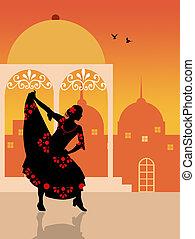 spanish girl - Spanish flamenco dancer