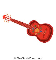 Acoustic Guitar Clipart Vectorby Pockygallery15 1603 Spanish With Mexican Aztec Ornaments Vector