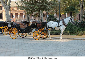 Spanish Horse and Cart