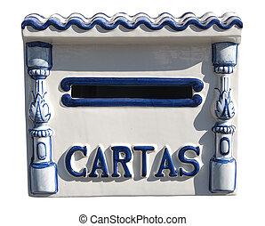 Spanish mailbox (isolated with clipping path)