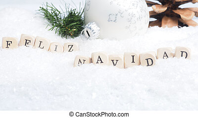 Spanish Merry Christmas background