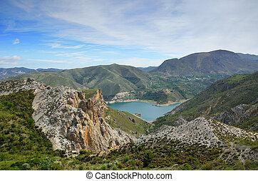 Spanish mountains Sierra Nevada in spring