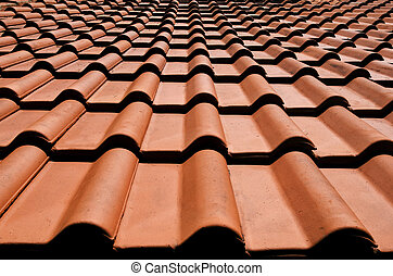 Spanish tile roof.