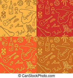 spanish seamless pattern - illustration of spanish culture...