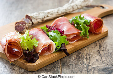 Spanish serrano ham