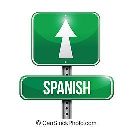 spanish sign illustration design