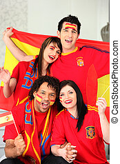 Spanish sports fans