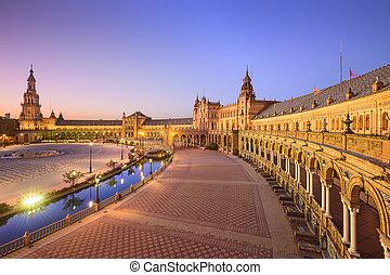 Spanish Square of Seville, Spain - Seville, Spain at Spanish...