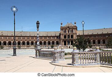Spanish Square (Plaza de Espana) in Seville, Andalusia Spain