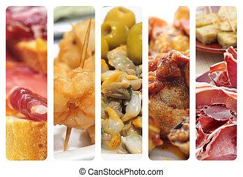 spanish tapas collage