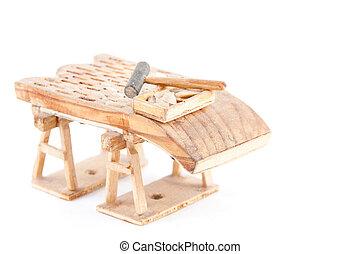 Spanish threshing board made in Cantalejo, Segovia - A...