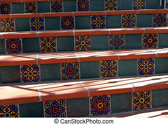 Spanish Tile Steps