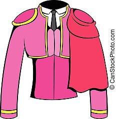 Spanish torero jacket icon cartoon