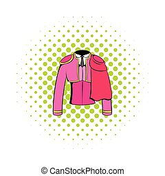 Spanish torero jacket icon, comics style