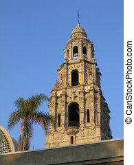 Spanish Tower with Palm