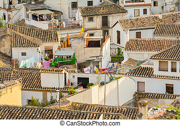 spanish town roofs