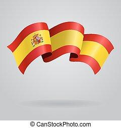Spanish waving Flag. Vector illustration