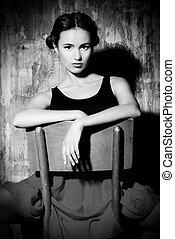 spanish woman - Art portrait of a beautiful Spanish girl....