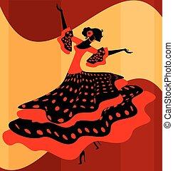 Spanish woman dancer