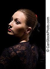 Spanish woman - Portrait of attractive spanish woman over...