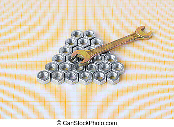 Spanner and nuts on graph paper