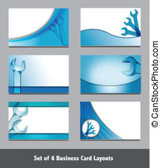 Spanner Business Card Templates.  Simply add your own text.