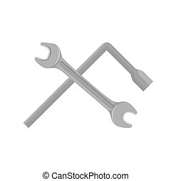 Spanner isolated on white background.