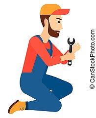 spanner., repairman, birtok