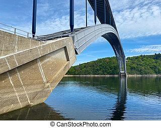 spans, republic., ブリッジアーチ, zdakov, vltava 川, 鋼鉄