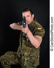 spansk, militær