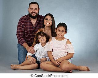 spanyol, műterem, család