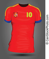 spanyolország, futball, mez