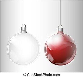 spar, bal, licht, abstract, boompje, kerstmis, realistisch, vector, achtergrond, transparant, zilver