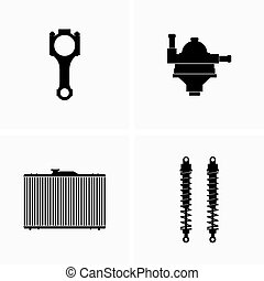 Spare and repair parts for cars