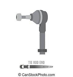 Spare Parts Icon - Tierodend image. Spare parts icon in...