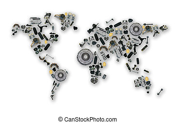 Spare parts map for aftermarket - Spare parts map for shop...