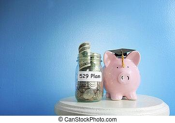 spareinlagen, hochschule, 529, plan
