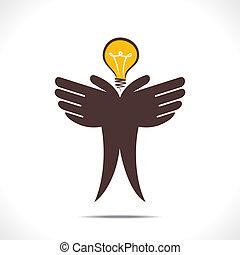 sparen, energie, concept, of, idee