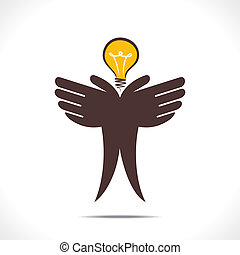 sparen, of, idee, concept, energie
