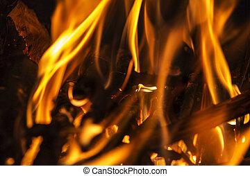 sparen, preview, vuur, textuur, black , op, brand, vlam, afsluiten, downloaden, isol, achtergrond., vlammen
