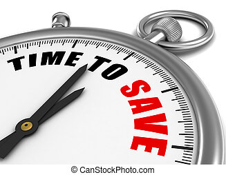 sparen, tijd, illustratie, 3d