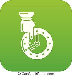 sparen, vector, groene, tijd, pictogram