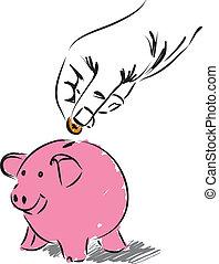 sparenden geld, abbildung