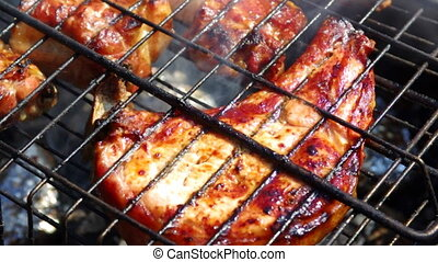 Spareribs on the grill