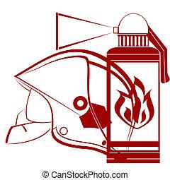spari elmo, exti, pompiere