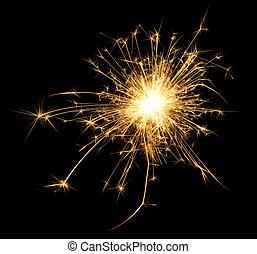 A spark over black backround