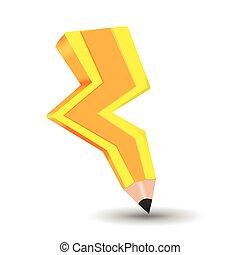 Spark Bolt Yellow Pencil Idea