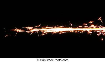 Spark Firework Background