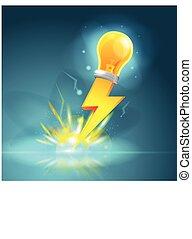 Spark Lamp Yellow Thunder Idea