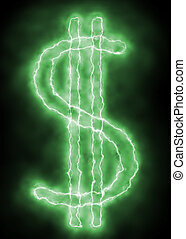 spark lightning dollar sign